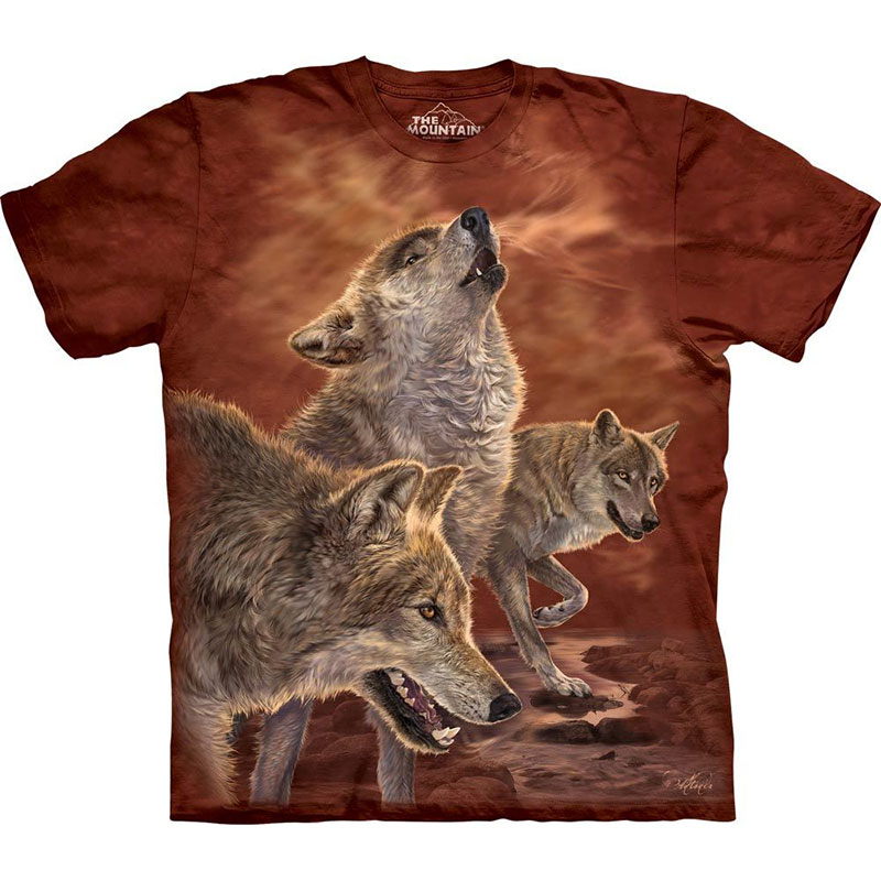 The Mountain - Red Glow Wolves T-Shirt