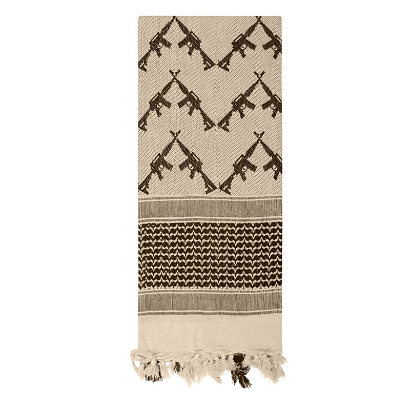 Rothco - Crossed Rifles Shemagh Tactical Scarf - Tan