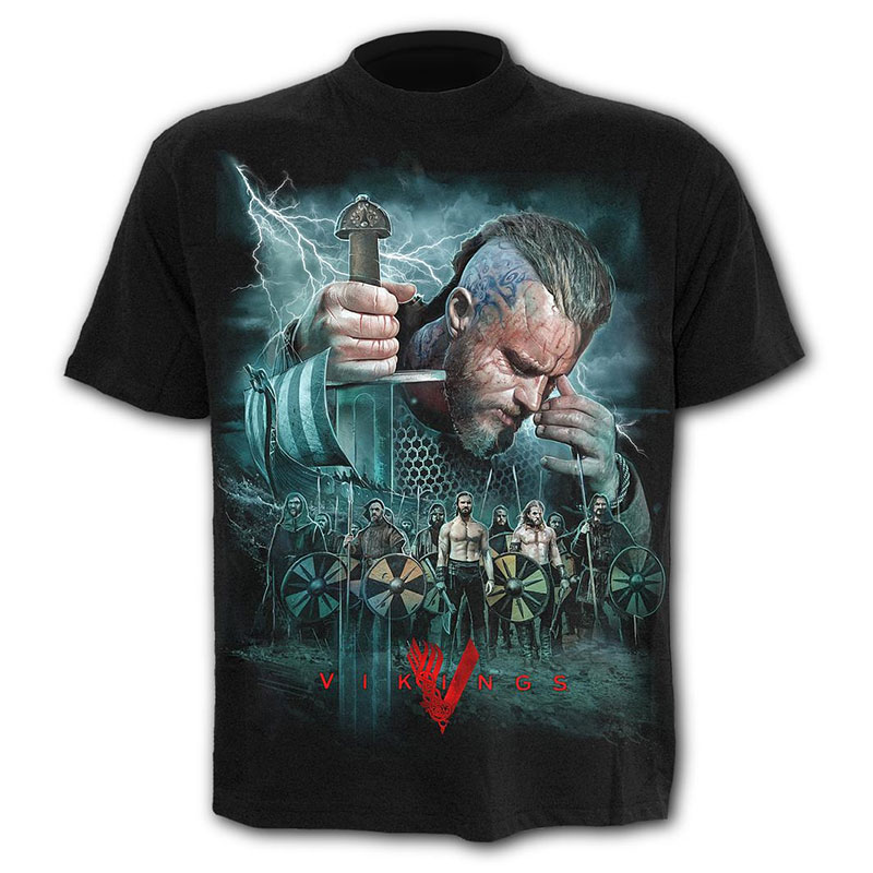 Spiral Direct - VIKINGS - BATTLE - T-Shirt Black