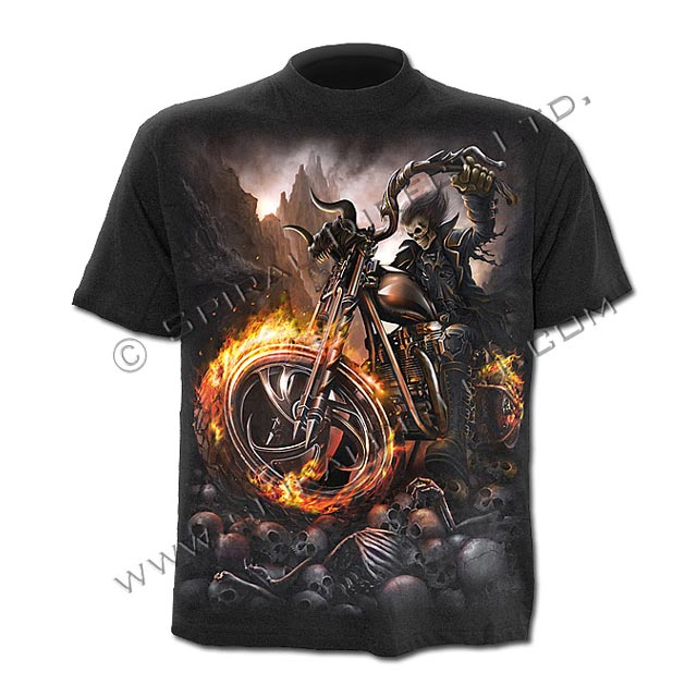 Spiral Direct - WHEELS OF FIRE - T-Shirt Black