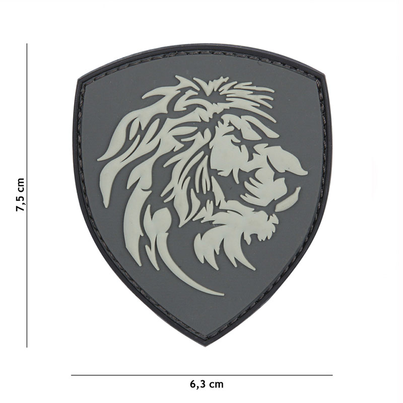 101 inc - Patch 3D PVC Dutch lion grey