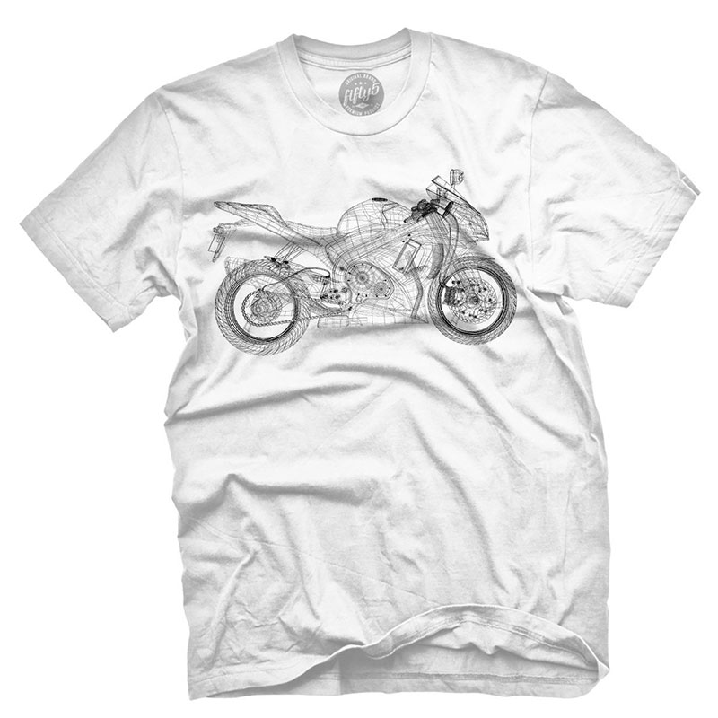 Fifty5 Clothing - Wireframe Motorcycle Men