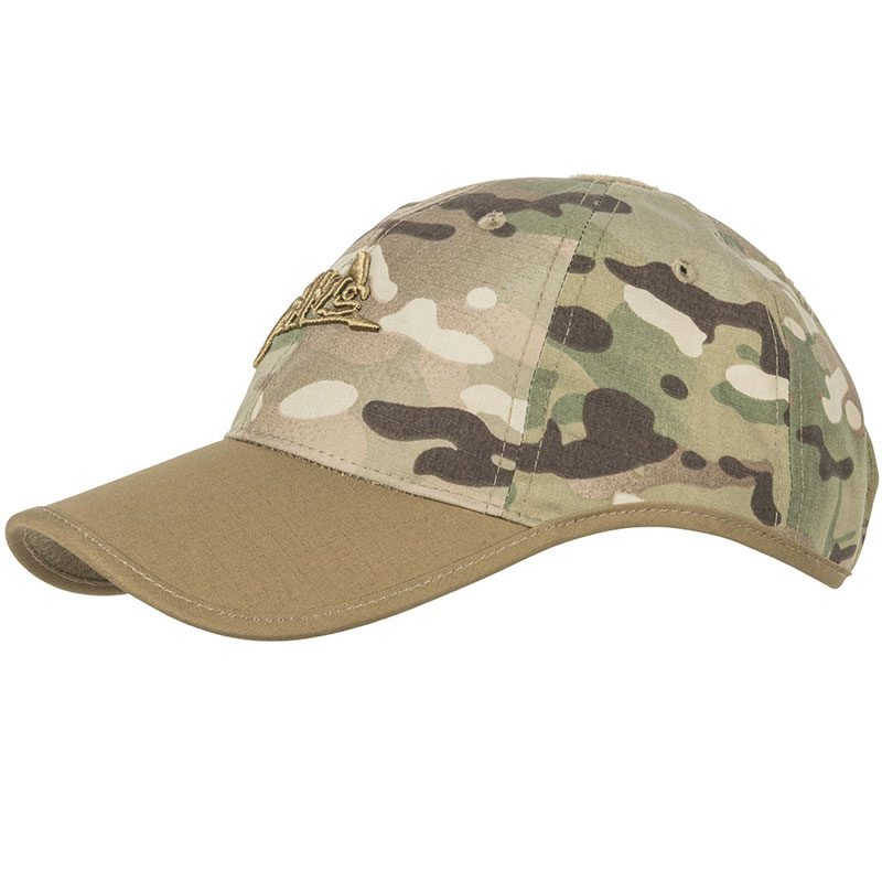 Helikon-Tex - Logo Cap - PolyCotton Ripstop - Camogrom/Coyote A