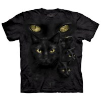 The Mountain - Black Cat Moon Eyes T-Shirt