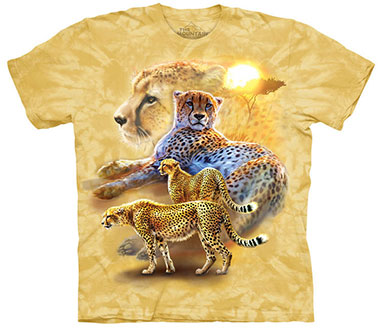 The Mountain - Serengeti Gold Cheetahs T-Shirt