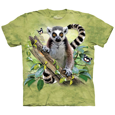 The Mountain - Lemur & Butterflies T-Shirt