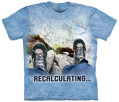 The Mountain - Recalculating Outdoor T-Shirt