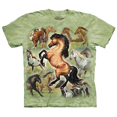 The Mountain - Horse Collage T-Shirt