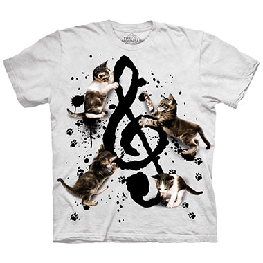The Mountain - Music Kittens T-Shirt