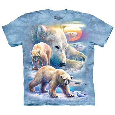 The Mountain - Sunrise Polar Bear Collage T-Shirt