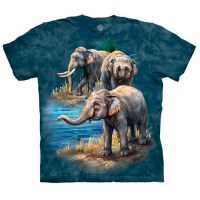 The Mountain - Asian Elephant Collage T-Shirt