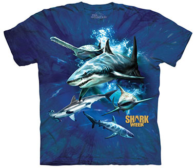 The Mountain - Shark Week Collage T-Shirt