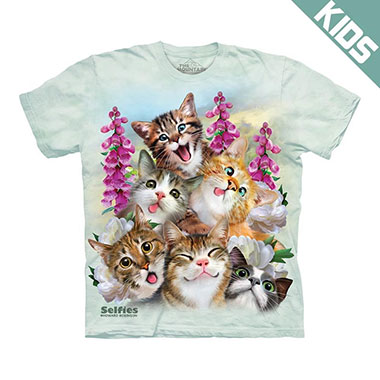 The Mountain - Kittens Selfie Kids T-Shirt