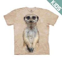 The Mountain - Meerkat Portrait Kids T-Shirt
