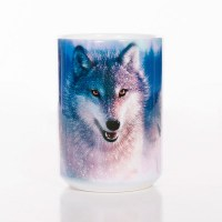 The Mountain - Northern Lights Ceramic Mug