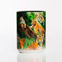 The Mountain - Wild Tiger Collage Ceramic Mug