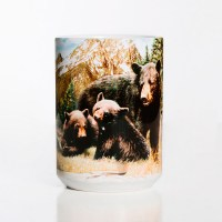 The Mountain - Black Bear Family Ceramic Mug