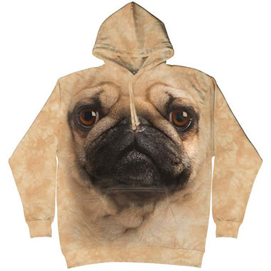 The Mountain - Pug Face Hoodie