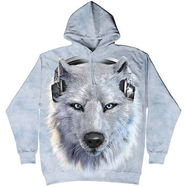 The Mountain - White Wolf DJ Hoodie