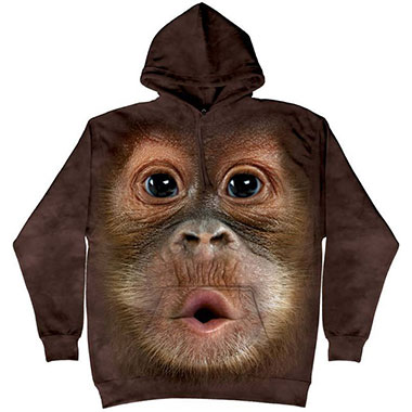 The Mountain - Big Face Baby Orangutan Hoodie