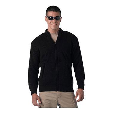 Rothco - Reversible Zip Up Commando Sweater - Black
