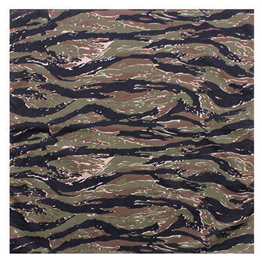 Rothco - Large Camo Bandana - Tiger Stripe Camo
