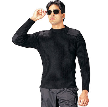 Rothco - Government Type Wool Commando Sweater - Black