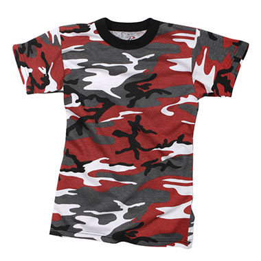 Rothco - Kids Camo T-Shirts - Red Camo