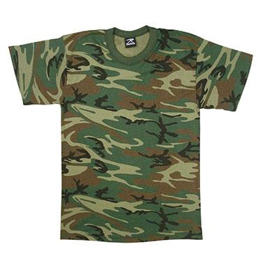 Rothco - Kids Camo T-Shirts - Woodland Camo