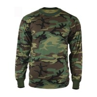 Rothco - Long Sleeve T-Shirt - Woodland Camo