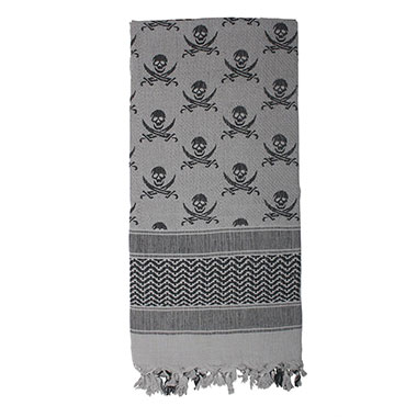 Rothco - Skulls Shemagh Tactical Desert Scarf - Grey