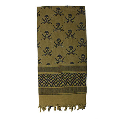 Rothco - Skulls Shemagh Tactical Desert Scarf - Olive Drab