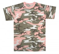 Rothco - Colored Camo T-Shirts - Subdued Pink Camo