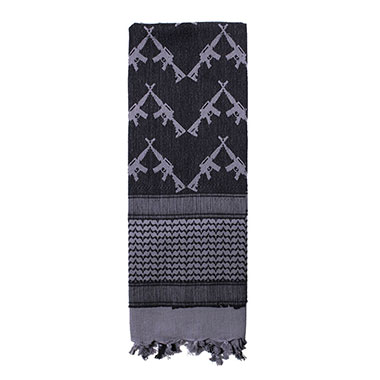 Rothco - Crossed Rifles Shemagh Tactical Scarf - Grey