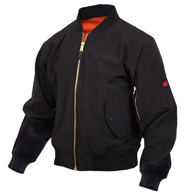 Rothco - Soft Shell MA-1 Flight Jacket - Black