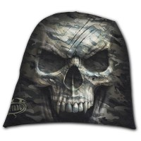 Spiral Direct - CAMO-SKULL - Light Cotton Beanies Black