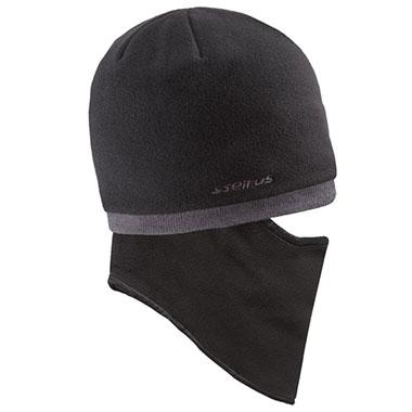Seirus - Quick Clava® Fleece Knit - Black/Charcoal Edge