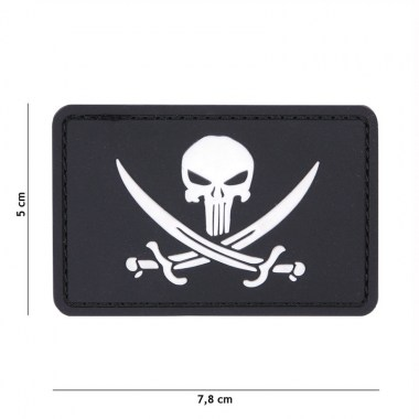 101 inc - Patch 3D PVC Punisher pirate black