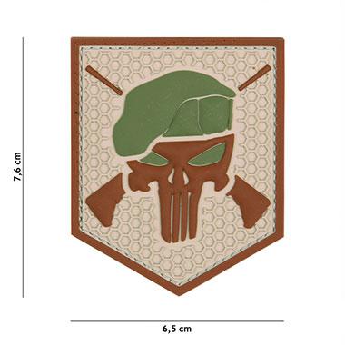 101 inc - Patch 3D PVC Commando Punisher coyote