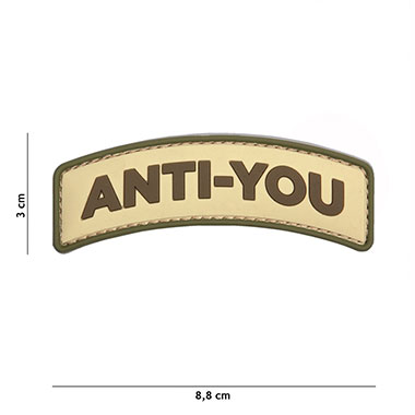 101 inc - Patch 3D PVC Anti-You coyote