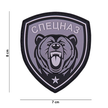 101 inc - Patch 3D PVC Spetsnaz bear grey