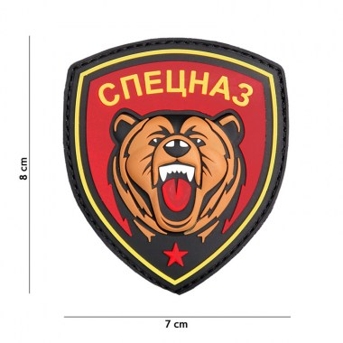 101 inc - Patch 3D PVC Spetsnaz bear red