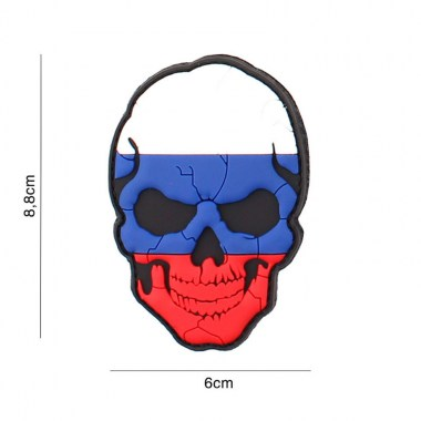 101 inc - Patch 3D PVC skull Russia cracked