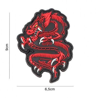 101 inc - Patch 3D PVC dragon red #5090