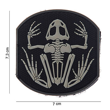 101 inc - Patch 3d PVC Frog skeleton