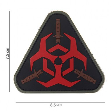 101 inc - Patch 3D PVC Outbreak response - Red