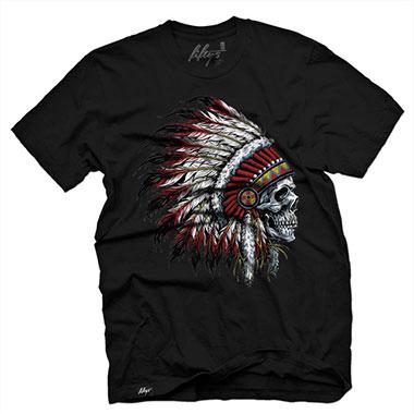 Fifty5 Clothing - Chief Skull Men's T Shirt - Black