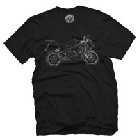 Fifty5 Clothing - Wireframe Motorcycle Men's T Shirt - Black