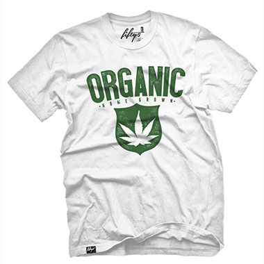 Fifty5 Clothing - ORGANIC Home Grown Weed Men's T Shirt - White