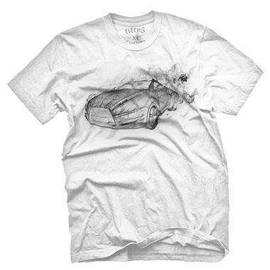 Fifty5 Clothing - Smokin Super Car Men's T Shirt - White